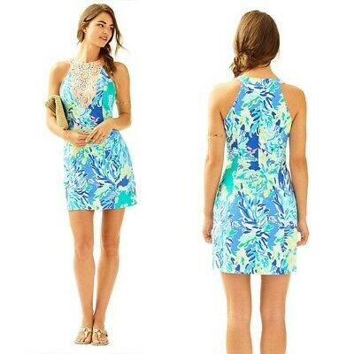 NWOT Lilly Pulitzer Pearl Shift Dress In Wade And Sea Size 8!