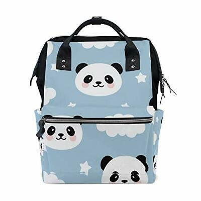 A Seed Baby Diaper Bag Backpack Tote Blue Pandas for Mom Dad
