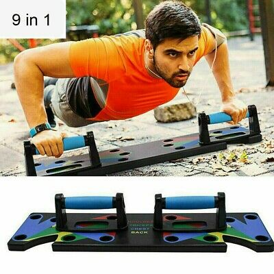 9 in 1 Push Up Rack Board System Fitness Workout Train Gym Exercise Body