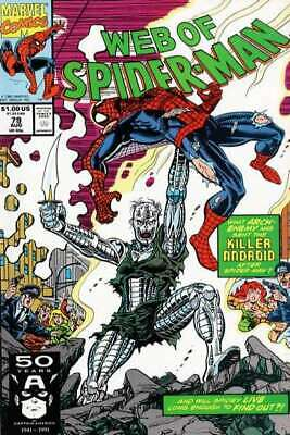 Web of Spider-Man (1985 series) #79 in NM minus condition. Marvel comics [*4f]