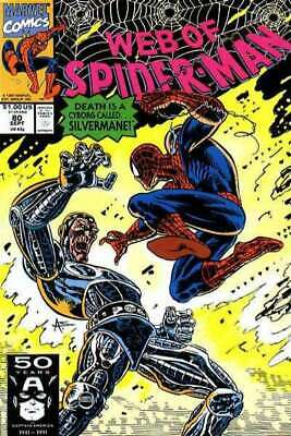 Web of Spider-Man (1985 series) #80 in NM minus condition. Marvel comics [*2v]