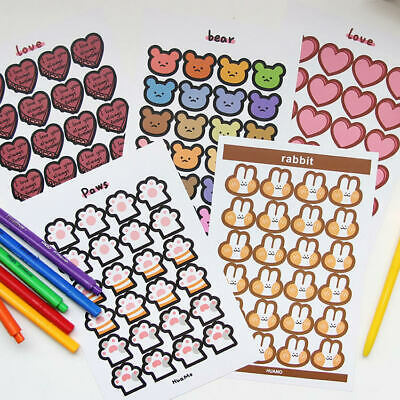 Paper Stickers Stationery Bullet Journal Japanese Style Laptop Gift Diary