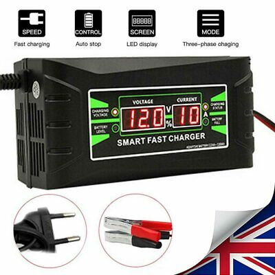 6 Amp Car Battery Charger Intelligent Pulse Repair Jump Starter 12V AGM/GEL HOT
