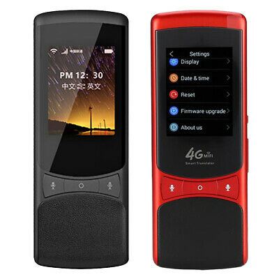 Smart Voice Translator Portable Two-Way Real Time 75 Multi-Language Translation