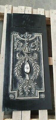 """HEAVY CAST IRON FIREPLACE PLATE COMPONENTS PARTS SALVAGE 92 x 41cm / 16"""" x 36"""""""