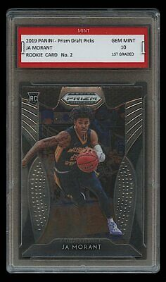 2019 Ja Morant Panini Prizm Dp 1St Graded 10 Rookie Card Rc Memphis Grizzlies
