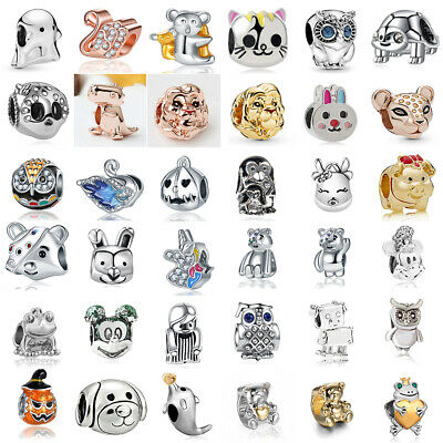 European Charms Pendant silver Animal Beads for 925 Sterling Chain Bracelets