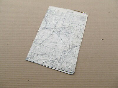 1945 Military German Map of Marbach Germany from US Soldier Original - Named
