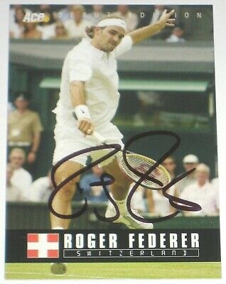 Roger Federer Signed 2005 Ace Authentic Debut Edition Card Autograph Auto!