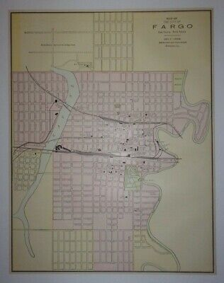 1897 Map of the City of Fargo, North Dakota