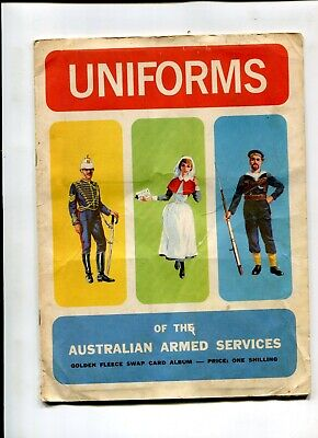 Golden Fleece Swap Card Album Uniforms Australian Armed Forces C 1964