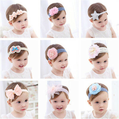 Newborn Kids Baby Girls Toddler Flower Headband Hair Bands Headwear Accessori sk