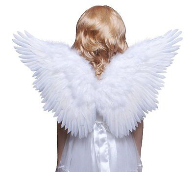 Props Girls Fairy Dress Angel Wings Feather Fancy Dress Party Costume Cosplay UK