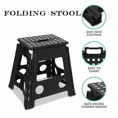 Heavy Duty Plastic Step Stool Foldable Multi Purpose Home Kitchen Use 150KG UK