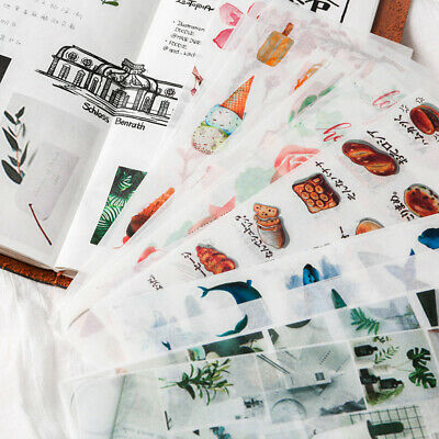 3Pcs Stickers Paper Book Stationery Bullet Journal Japanese Style Gift Diary