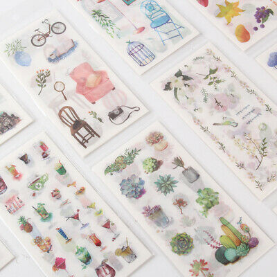 SALE 6PCS Paper Sticker book Stationery Bullet Journal Japanese Style GIFT Diary