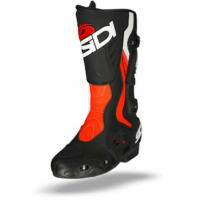 Sidi Roarr Black Red Fluo White Motorcycle Boots - Free Shipping