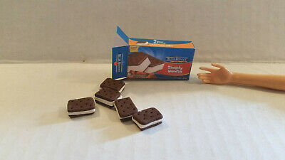 Barbie Doll 1:6 Kitchen Food Miniature Box of Ice Cream Sandwiches