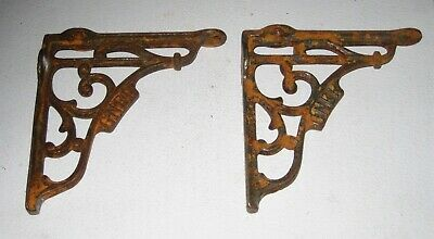 "Pair GNER 5"" METAL SHELF BRACKETS Great North Eastern Railway"