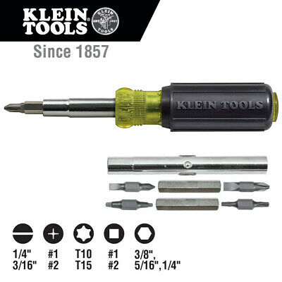 Klein Tools Cushion Grip Handle 11-in-1 Multi Bit Screwdriver & Nut Driver