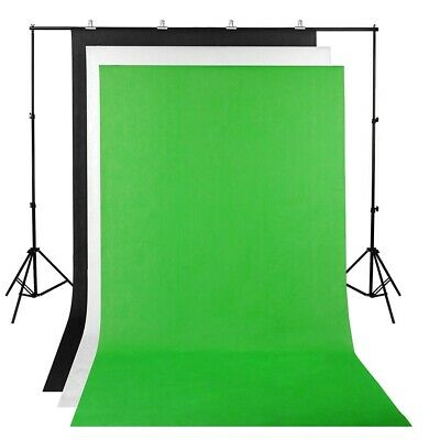 3 Backdrop 2x2m Stand Green Photography Screen Muslin Background Kit Detachable