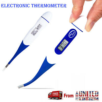 Flexible Tip Digital LCD Thermometer Baby Adult Oral Mouth Rectal Audibl