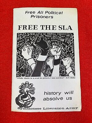 Free The SLA Free All Political Prisoners Pamphlet  Very RARE 1970's Print