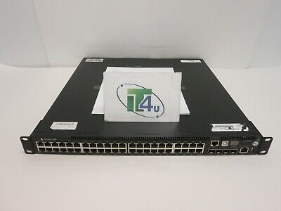 DELL FORCE 10 S55 44 PORT MANAGED NETWORK SWITCH W// POWER SYPPLY TR7CT 979K1 USA