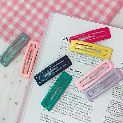 Candy Color Baby Kids Girls Metal Cartoon Hair Clips Side Clip BB Clip Hairpins