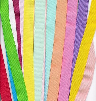 25 yds 7/8 inch grosgrain ribbon 1 yard of 25 colors  all solid spring colors #3