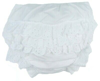 Baby Girls Infants Cotton Frilly Pants 0-6 Months 6-12 months and 12-18 months