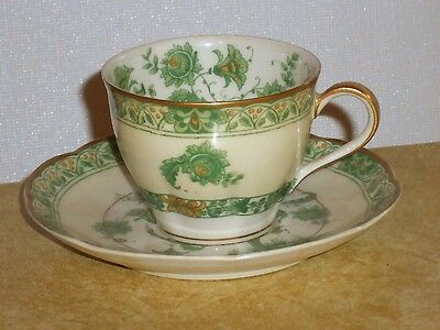 Theodore Haviland Limoges France CASHMERE Antique Demitasse Cup & Saucer