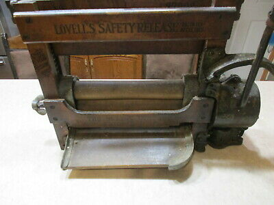 Vintage  Wooden Lovell's  No. Z780S  Clothes Laundry Wringer Motor Powered, Rare