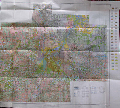 Color Soil Survey Map Saginaw County Michigan Chesaning Merrill Bridgeport 1938