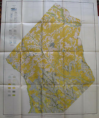 Folded Soil Survey Map Hoke County North Carolina Raeford Dundarrach Rockfish