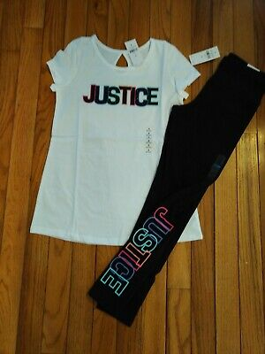 NWT Justice Girls Valentine Love Top//Leggings Size 7 10 12 14 16