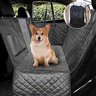 Upgraded Dog Seat Covers with Zippered Mesh Visual Window Waterproof Dog Hammock