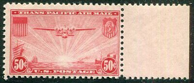 US   C22  Beautiful  Mint  NEVER  Hinged  MARGIN  AIR  MAIL  UPTOWN