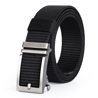 Men Durable Thick Nylon Belt with Automatic Buckle Suit Any occasion & Anyone