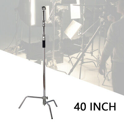 10ft Turtle Base C-Stand Adjustable Light Stand Heavy Duty Photo Stand w/  riser