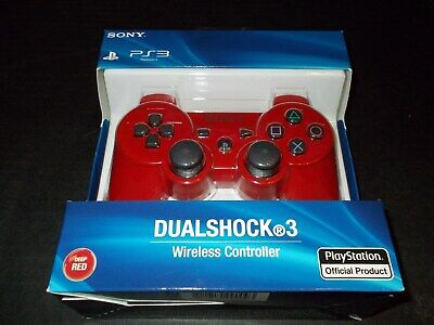 Sony PS3 Playstation DualShock 3 Wireless Bluetooth Controller Red New Sealed