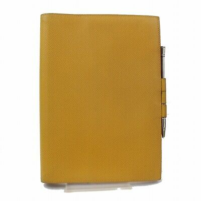 Authentic Hermes Diary Cover Agenda GM Yellows Leather 324364