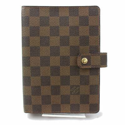 Authentic Louis Vuitton Diary Cover Agenda MM Browns Damier 119037