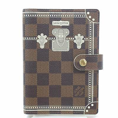 Authentic Louis Vuitton Diary Cover Agenda PM Browns Damier 364437