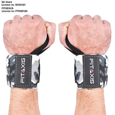 "Wrist Wrap Straps 18"" Weight Lifting bodybuilding Exercise Gym Workout"