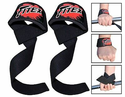 FITEX Padded Bodybuilding Weightlifting Training Gym Straps Wrist Hand Support
