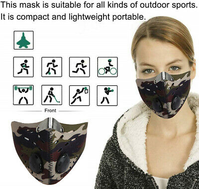 Fitness MaskMotorcycle Bicycle Cycling Anti-Pollution Half Face Dust Mask Filter