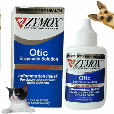 ZYMOX Pet King Brand Otic Pet Ear Treatment with 1% Hydrocortisone for Cats&Dogs
