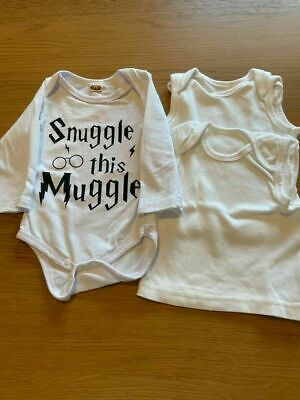 Baby Girls ~ 3/6mths ~ All in one long sleeve vest /2 extra vests