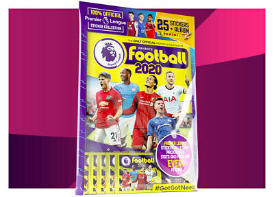 Panini Football 2020 Premier League Starter Pack 25 Stickers Collection Album
